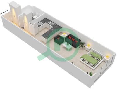 المخططات الطابقية لتصميم الوحدة B-11 شقة  - مردف توليب