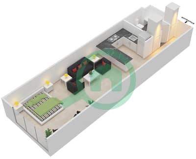 المخططات الطابقية لتصميم الوحدة B-12 شقة  - مردف توليب