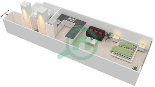 المخططات الطابقية لتصميم الوحدة B-09 شقة  - مردف توليب