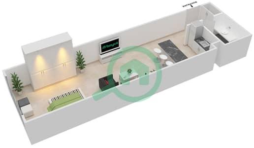 المخططات الطابقية لتصميم الوحدة B-01 شقة  - مردف توليب
