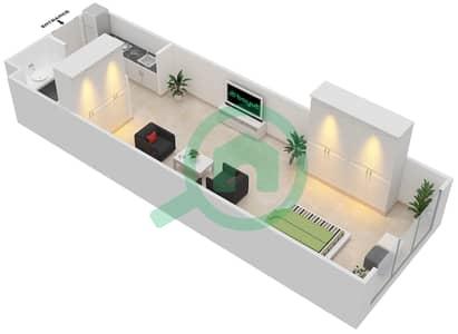 المخططات الطابقية لتصميم الوحدة B-04 شقة  - مردف توليب