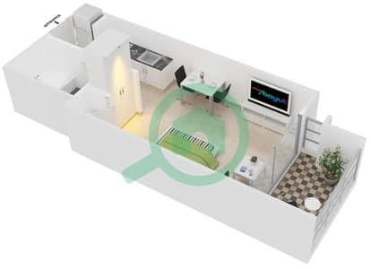 Al Samar 1 - Studio Apartment Suite 12-13 Floor plan