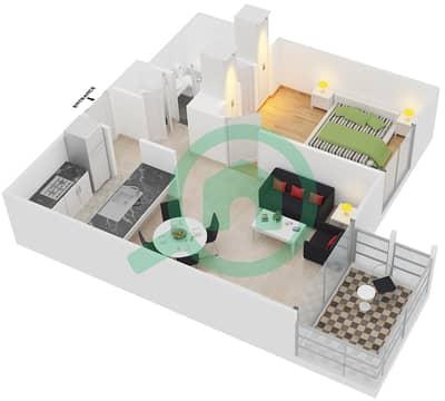 Al Ghozlan 1 - 1 Bed Apartments suite 7-10-14-16 Floor plan