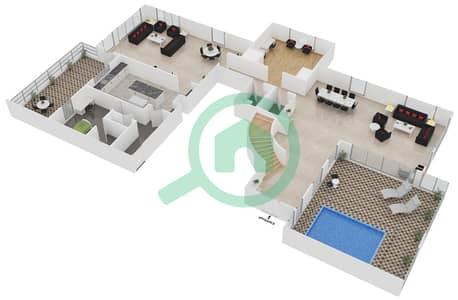 المخططات الطابقية لتصميم الوحدة PB بنتهاوس 4 غرف نوم - امواج 4