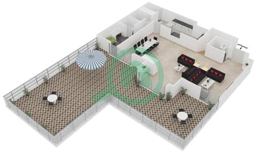 المخططات الطابقية لتصميم الوحدة LP03 شقة 3 غرف نوم - امواج 4