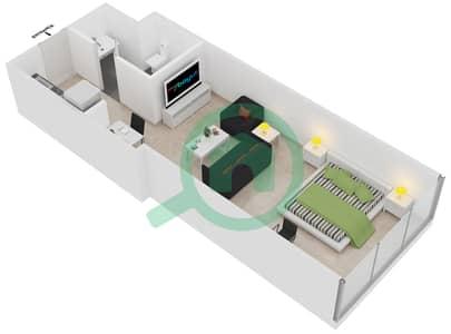 المخططات الطابقية لتصميم الوحدة 9-10 شقة  - برج بريتوني