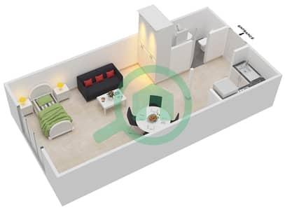 Point Residencia - Studio Apartment Unit 4,15 Floor plan
