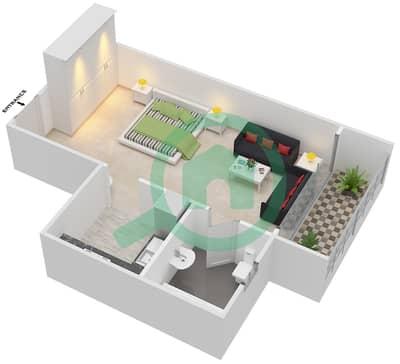 Point Residencia - Studio Apartment Unit 3,16 Floor plan