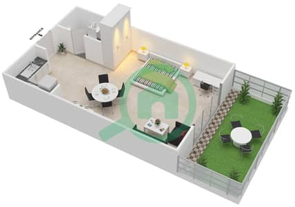 Point Residencia - Studio Apartment Unit 6 Floor plan