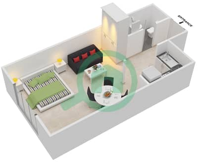 Point Residencia - Studio Apartment Unit 6,13 Floor plan