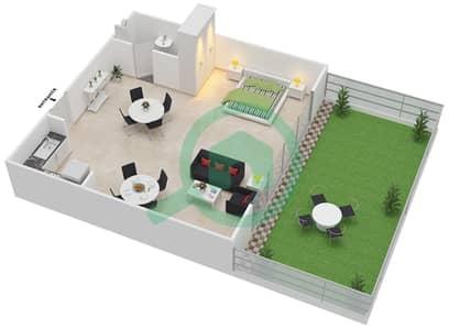 Point Residencia - Studio Apartment Unit 4 Floor plan