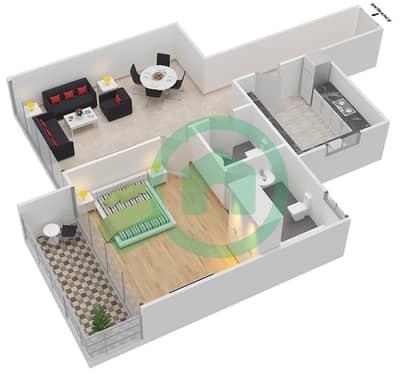 Point Residencia - 1 Bedroom Apartment Unit 20,21 Floor plan