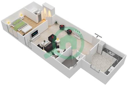 Point Residencia - 1 Bedroom Apartment Unit 19,22 Floor plan