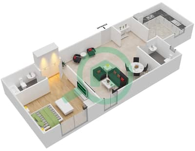 Point Residencia - 1 Bedroom Apartment Unit 10 Floor plan