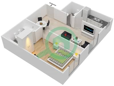 Point Residencia - 1 Bedroom Apartment Unit 9 Floor plan