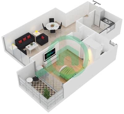 Point Residencia - 1 Bedroom Apartment Unit 9,10 Floor plan