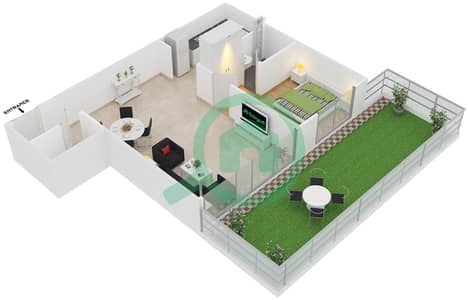 Point Residencia - 1 Bedroom Apartment Unit 8 Floor plan