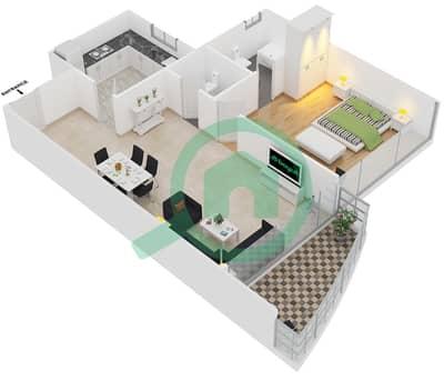 Point Residencia - 1 Bedroom Apartment Unit 8,11 Floor plan