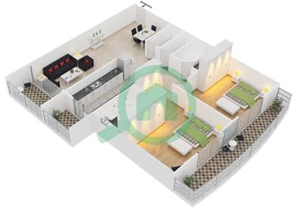 Point Residencia - 2 Bedroom Apartment Unit 7,12 Floor plan