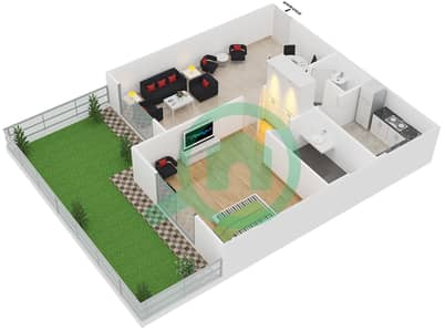 Point Residencia - 1 Bedroom Apartment Unit 5 Floor plan