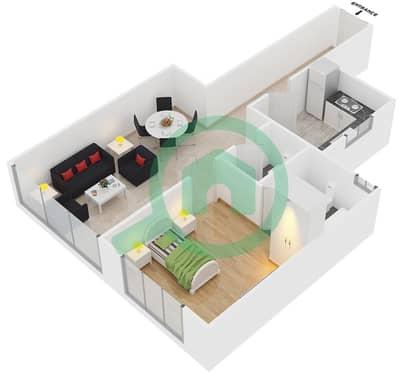 Point Residencia - 1 Bedroom Apartment Unit 3 Floor plan