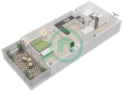 المخططات الطابقية لتصميم الوحدة 10 شقة  - برج 108