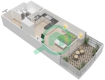 المخططات الطابقية لتصميم الوحدة 6 شقة  - برج 108