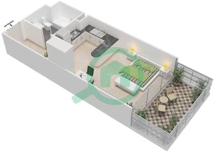المخططات الطابقية لتصميم الوحدة 2 شقة  - برج 108