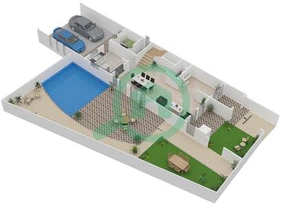 المخططات الطابقية لتصميم الوحدة C تاون هاوس 4 غرف نوم - قصر مالبيري