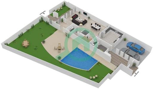 المخططات الطابقية لتصميم الوحدة E تاون هاوس 4 غرف نوم - قصر مالبيري