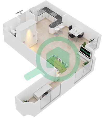المخططات الطابقية لتصميم الوحدة A3 شقة  - مساكن أستوريا