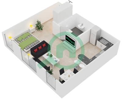 المخططات الطابقية لتصميم الوحدة A2 شقة  - مساكن أستوريا