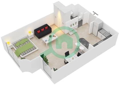 المخططات الطابقية لتصميم الوحدة A1 شقة  - مساكن أستوريا
