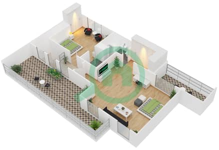 Astoria Residence - 3 Beds Apartments unit D5 Floor plan