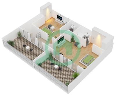 Astoria Residence - 3 Beds Apartments unit D4 Floor plan