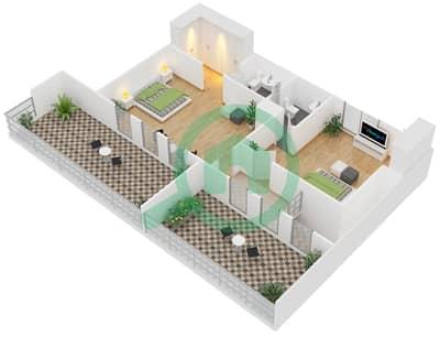 Astoria Residence - 3 Beds Apartments unit D3 Floor plan