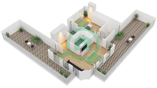 Astoria Residence - 3 Beds Apartments unit D2 Floor plan