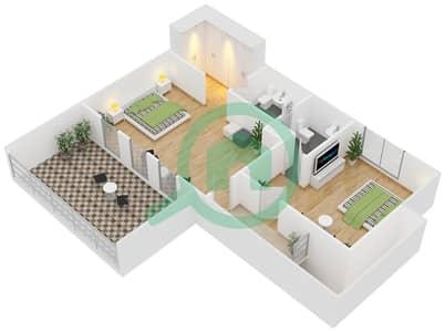 Astoria Residence - 3 Beds Apartments unit D1 Floor plan