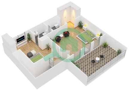 Astoria Residence - 2 Beds Apartments unit C Floor plan