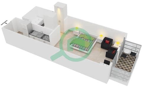 المخططات الطابقية لتصميم الوحدة A-301 شقة  - لي جراند شاتو