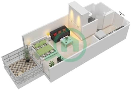 المخططات الطابقية لتصميم النموذج / الوحدة 1B/21 شقة  - شايستا عزيزي