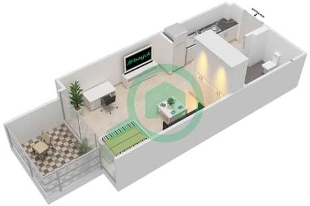 المخططات الطابقية لتصميم النموذج / الوحدة 1B /16 شقة  - شايستا عزيزي