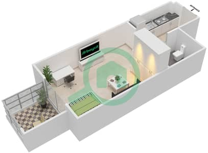 المخططات الطابقية لتصميم النموذج / الوحدة 1B/09 شقة  - شايستا عزيزي