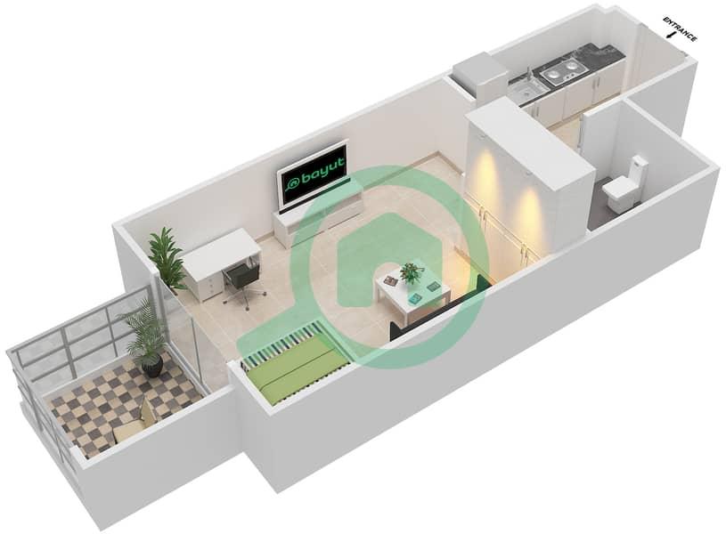 المخططات الطابقية لتصميم النموذج / الوحدة 1B/09 شقة  - شايستا عزيزي Floor 2-11 image3D
