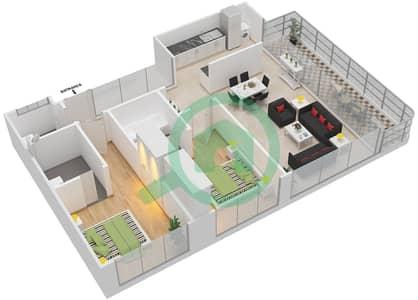 Pacific - 2 Bedroom Apartment Type GULF SUITE Floor plan