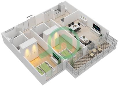 Pacific - 2 Bedroom Apartment Type PACIFIC SUITE Floor plan