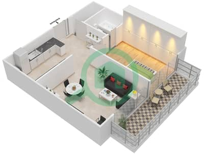 Pacific - 1 Bedroom Apartment Type 1A Floor plan