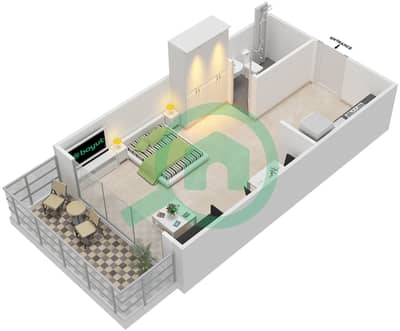 Pacific - Studio Apartment Type S Floor plan