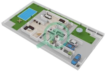 المخططات الطابقية لتصميم النموذج 4SB فیلا 4 غرف نوم - ياس ايكرز