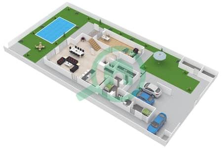 المخططات الطابقية لتصميم النموذج 4SA فیلا 4 غرف نوم - ياس ايكرز